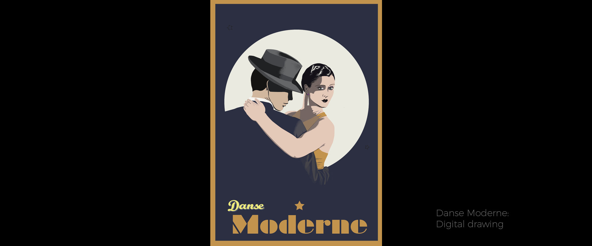 Danse Moderne, illustration by David Hamley