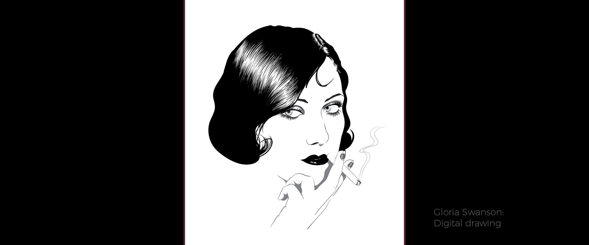 Gloria Swanson, illustration by David Hamley