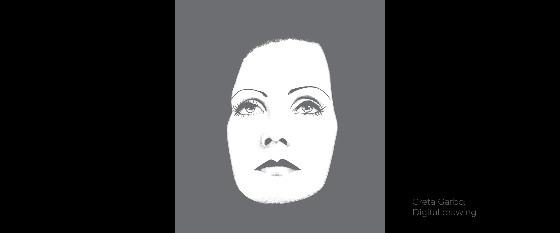 Greta Garbo, illustration by David Hamley