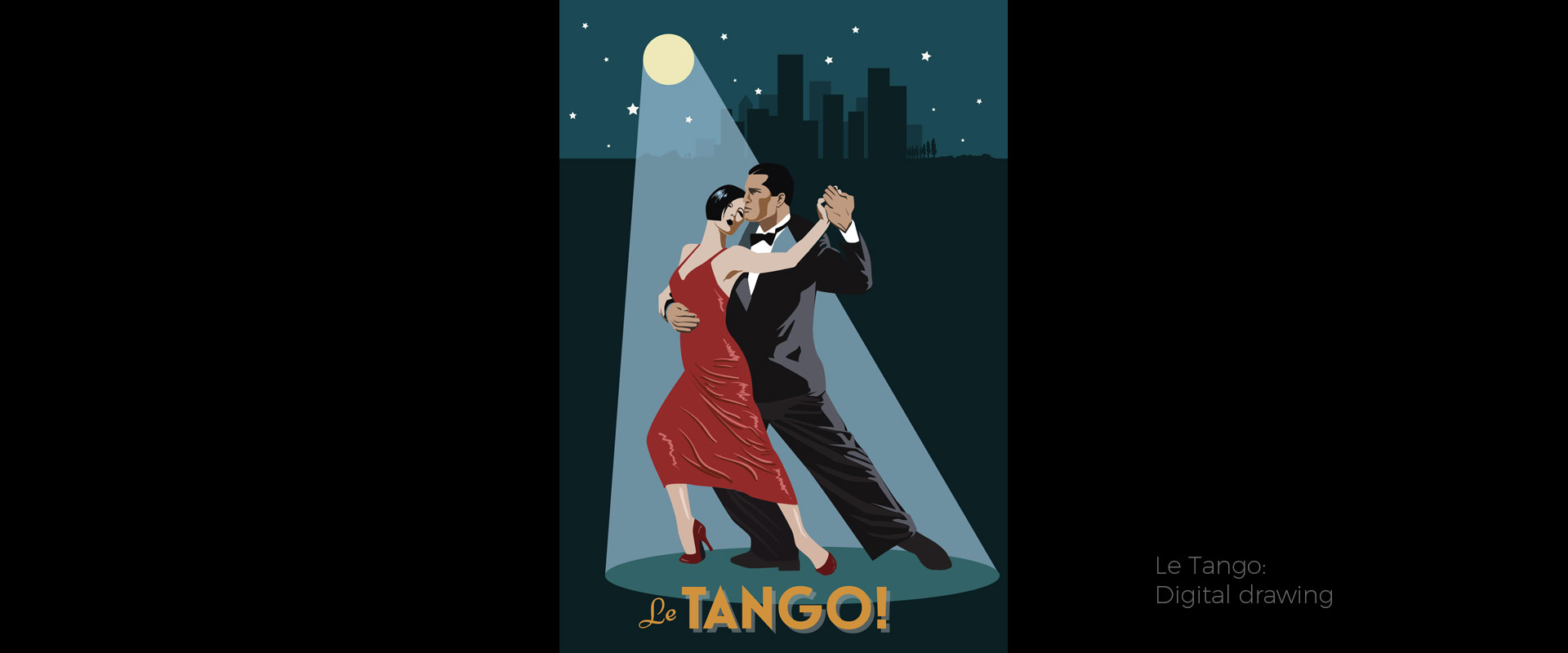 Le Tango, illustration by David Hamley