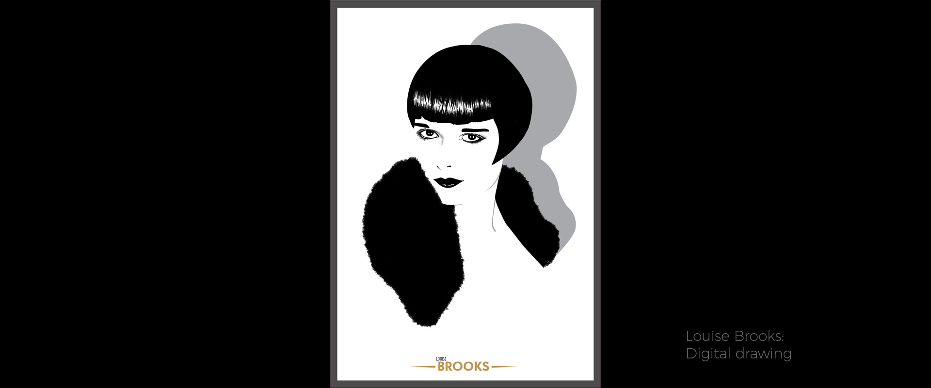 Louise Brooks, illustration by David Hamley