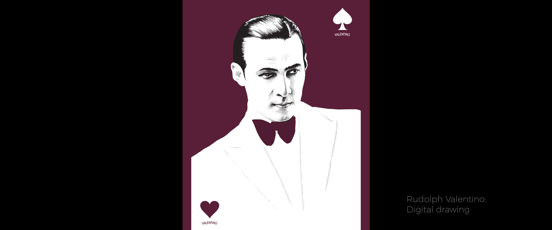 Rudolph Valentino, illustration by David Hamley